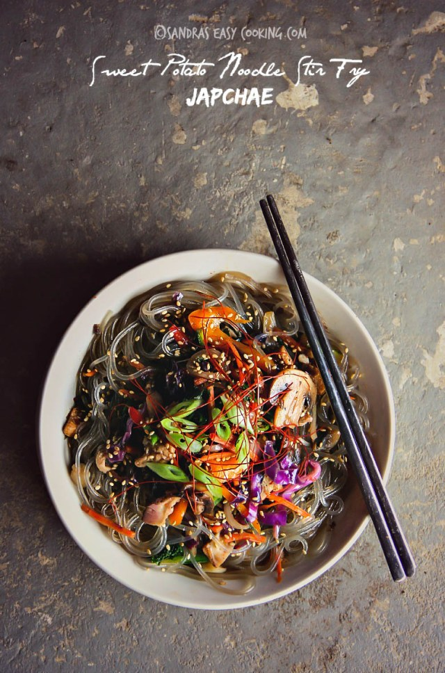 Sweet Potato Noodle Stir Fry, Japchae