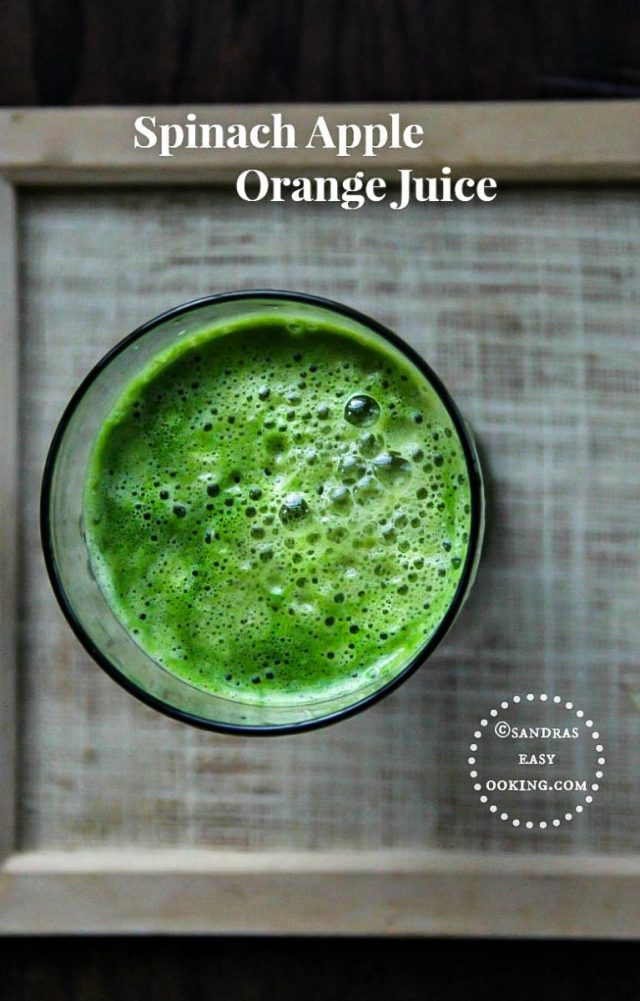 Spinach Apple Orange Juice