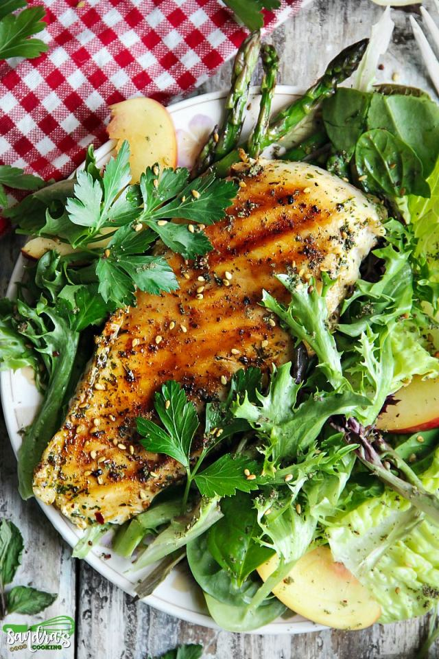 Thai Chili Grilled Chicken with Salad