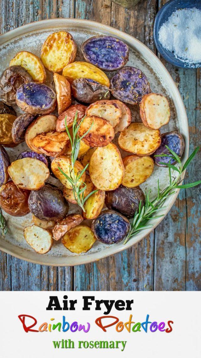 Air Fryer Rainbow Potatoes Recipe
