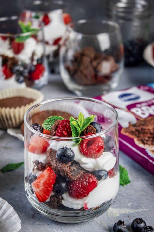 Brownies and Yogurt Summer Parfait
