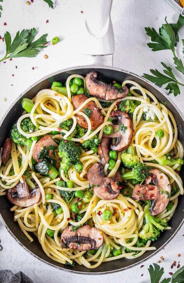 Green Vegetable Summer Spaghetti