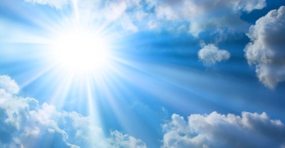 The Bright Sun, Blue Sky, Clouds