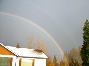 mount shasta christmas double rainbow