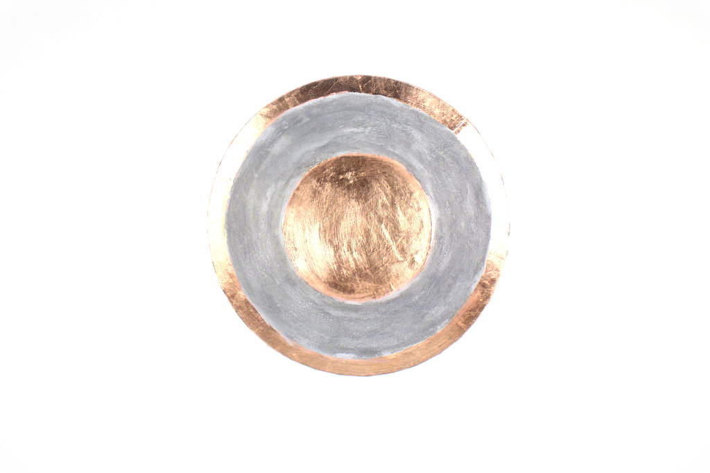 Beton Effekt Kupfer Schale