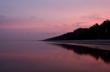 Sonnenaufgang in Ventspils
