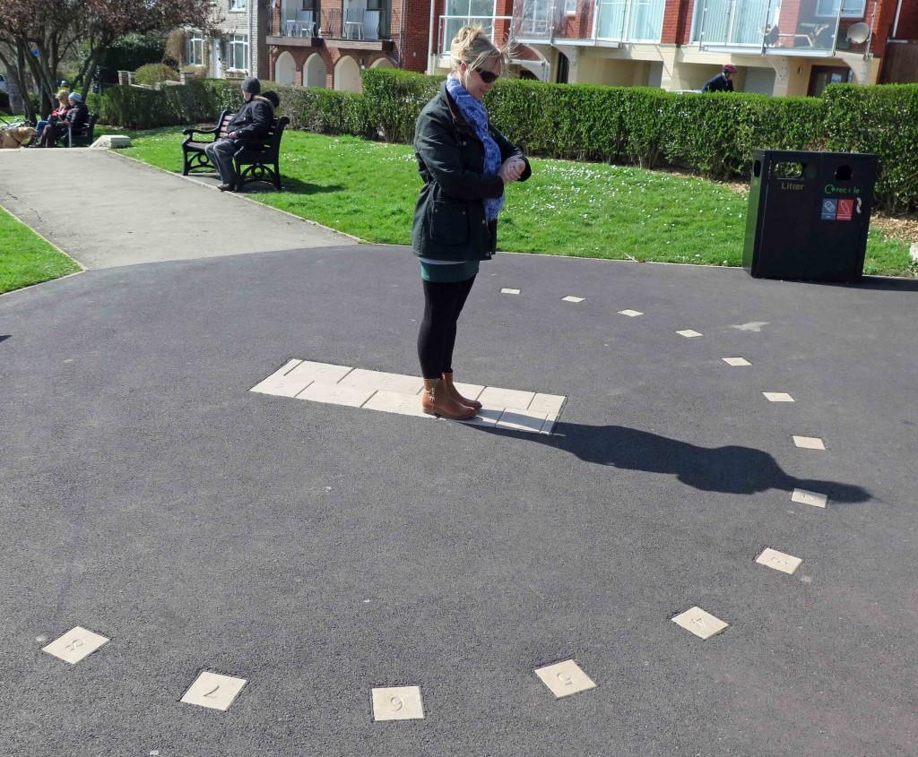 Human Sundial Now On Summer Time Sandsfoot Castle Gardens