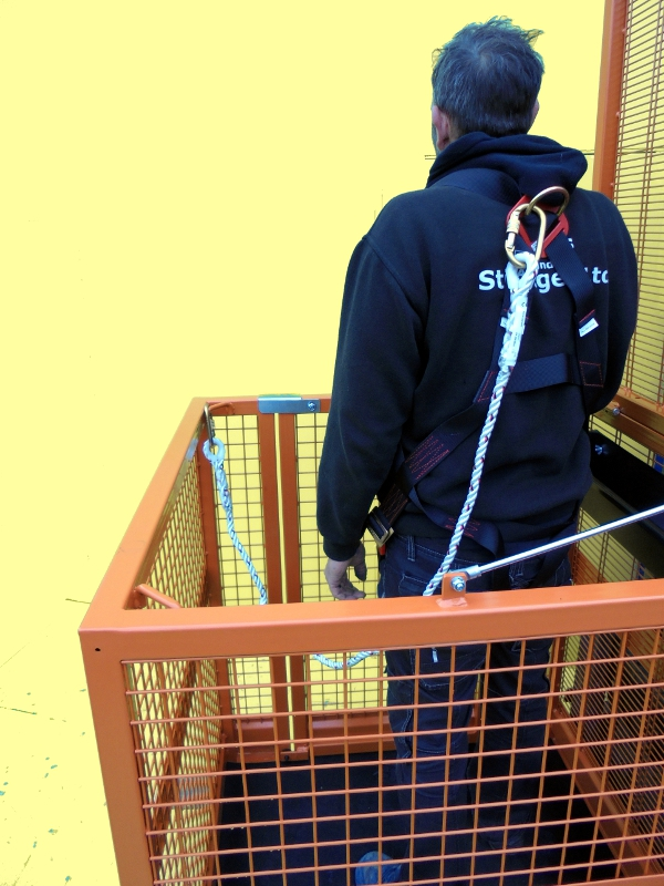 Forklift Safety Access Cage For 1 Amp 2 Persons