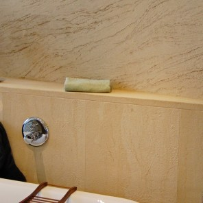 Sandstone for baths and wellness areas in detail with mini-joints
