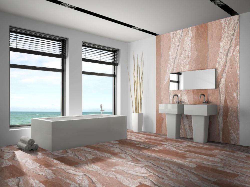 Flexible sandstone Red Cloud wall gladding bathroom spa