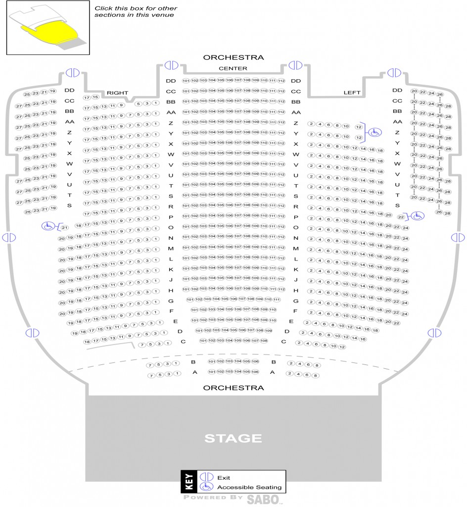 State Theatre Seating Chart Cleveland Wallseatco