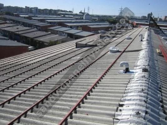 atermit çatı üzerine profil kaynatma