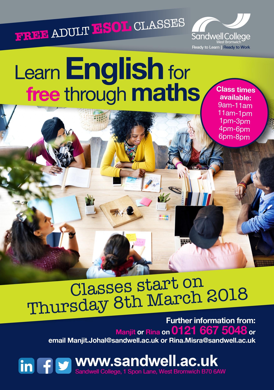 Adult Esol Maths Amp English