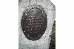 titanic plaque