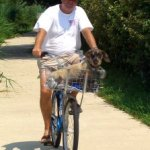 pup and bike