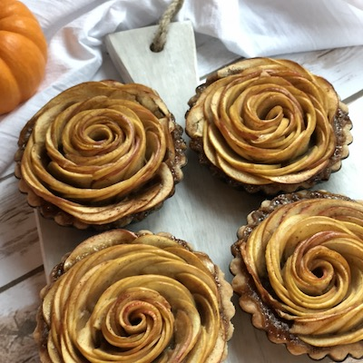 Apple Tart with Salted Whiskey Caramel