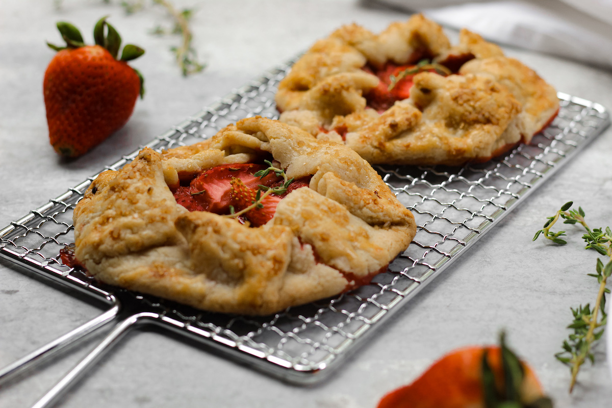 Strawberry Thyme Galettes (Phoros Mix)