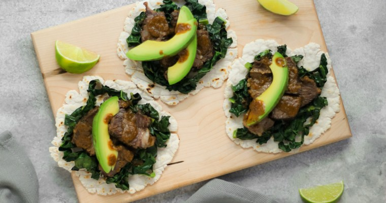 Short Rib Tacos with Cassava Tortillas