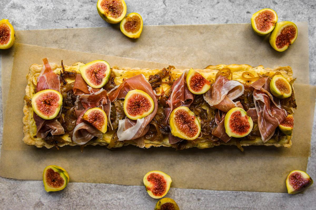 Fig and Cheese Custard Tart