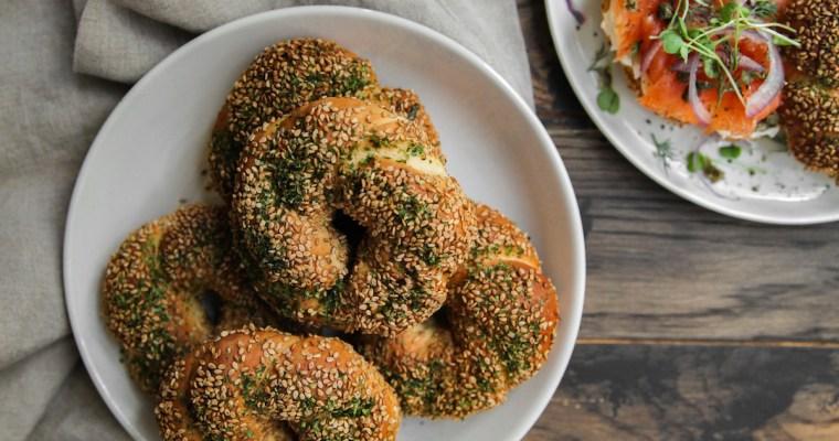 Turkish Bagels with Seaweed