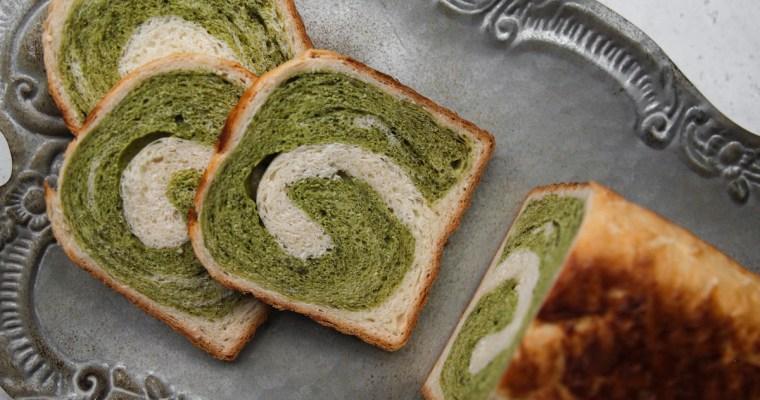 Matcha Coconut Swirl Bread