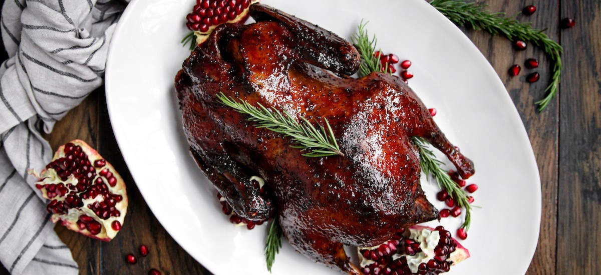Pomegranate Roasted Duck