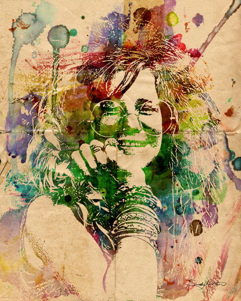 Abstract Watercolour Portrait