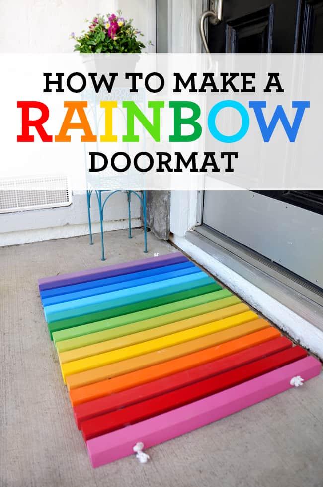 DIY Rainbow Doormat Tutorial Popsicle Blog