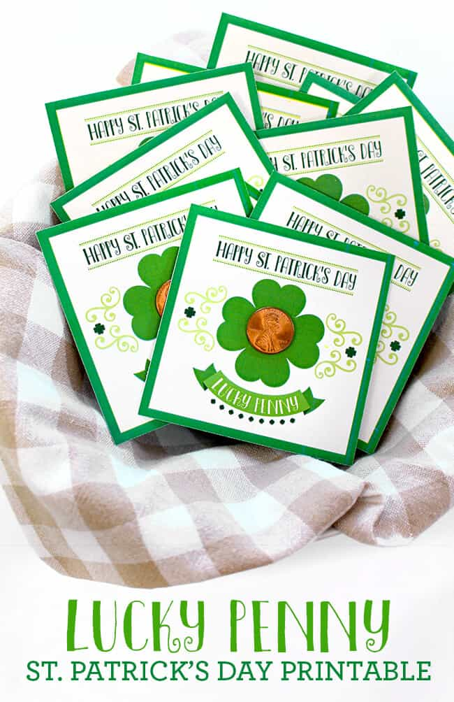 St Patricks Day Lucky Penny Printable Popsicle Blog