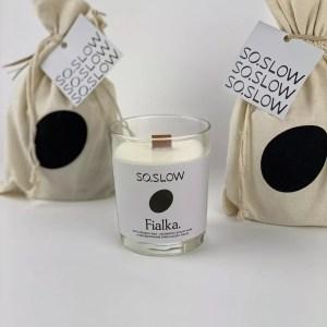 Slovenská sójova sviečka – 005 FIALKA
