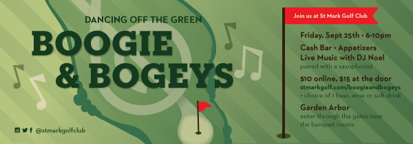 BOOGIE & BOGEYS at St. Mark Golf Club