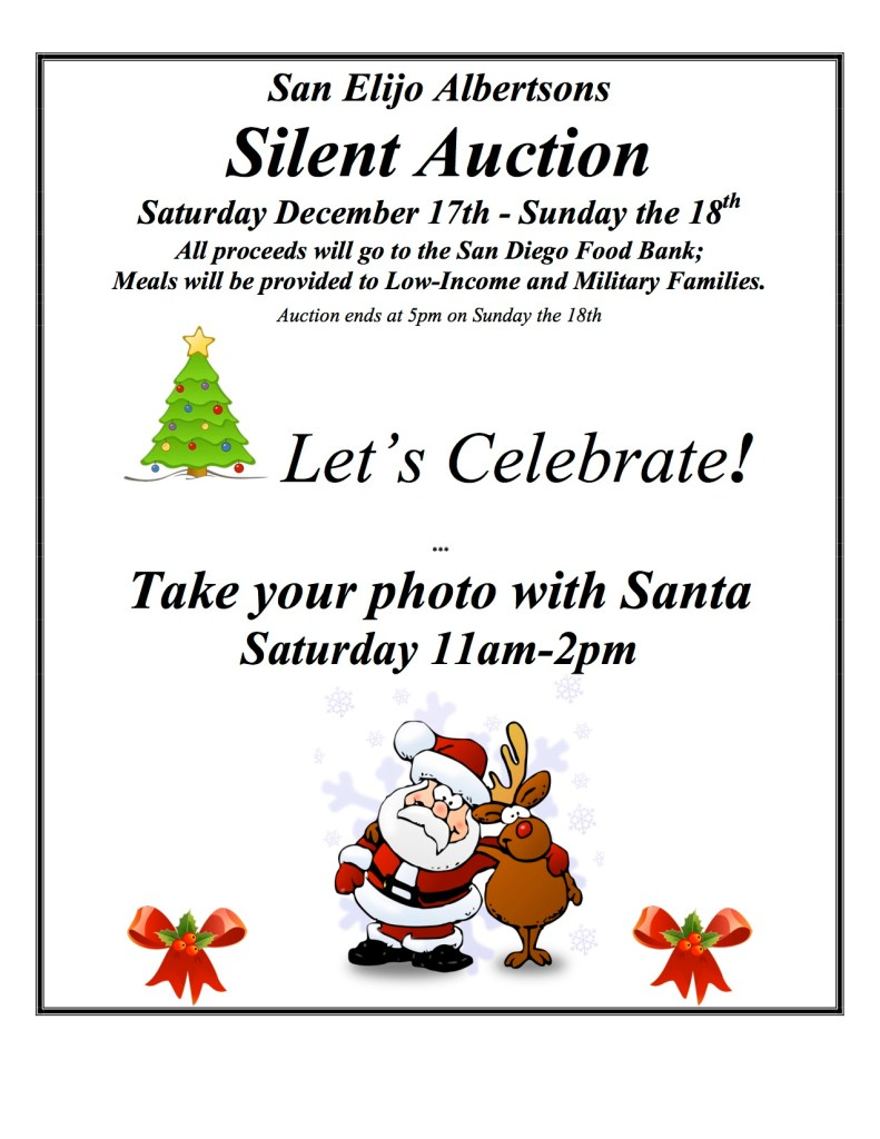 Albertsons Christmas Hours.San Elijo Albertsons Silent Auction Pictures With Santa