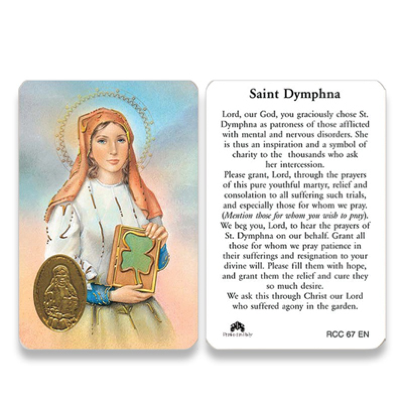 RCC ST DYMPHNA PRAYER CARD ENGLISH 25PKG San Francis