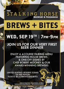Brews + Bites at The Stalking Horse @ Stalking Horse Pub