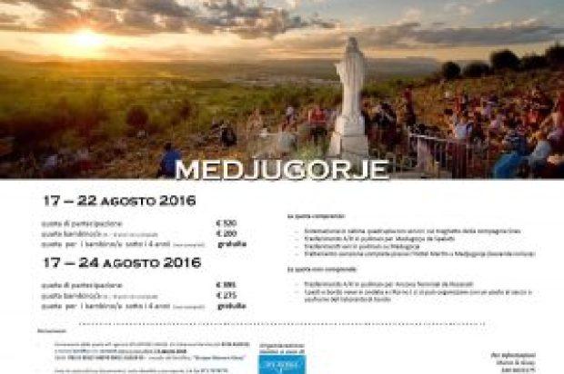 PELLEGRINAGGIO MEDJGORIE AGOSTO 2016