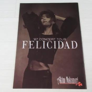 中森明菜 1997年 コンサートツアー FELICIDAD パンフレット