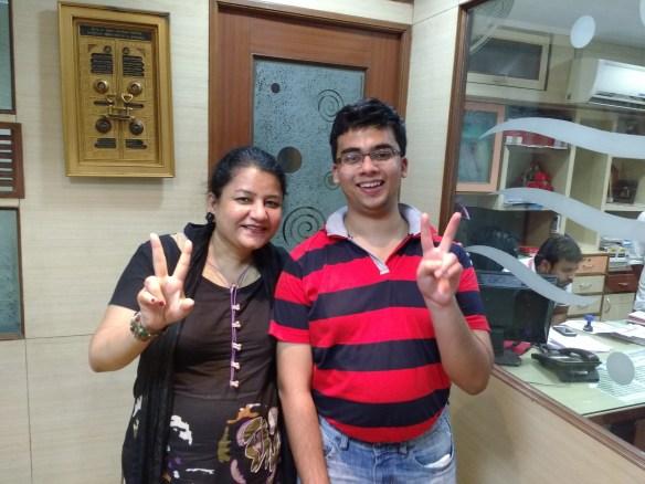 Amol sood with Dr Sangeeta Khanna