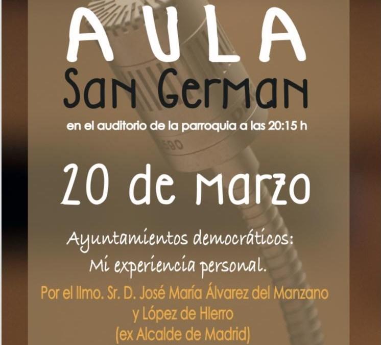 Aula San Germán. Ayuntamientos democráticos.