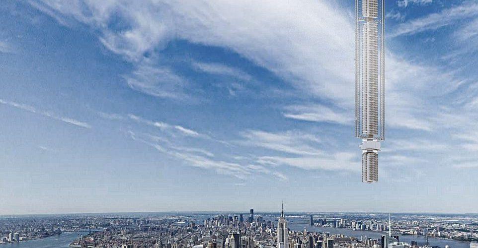 संसारको सबैभन्दा अग्लो भवन धर्तीमा होइन, आकाशमा बन्नेः  धर्तीतर्फ झुण्डिने, घुमिरहने