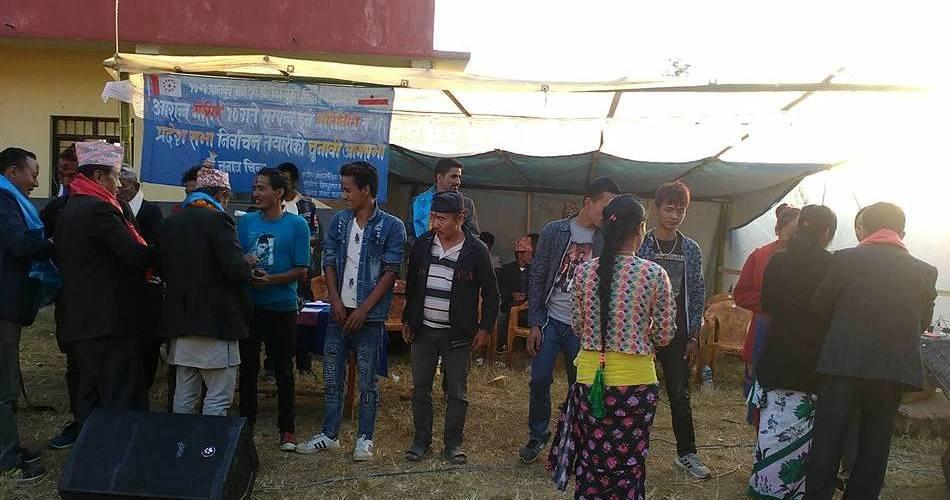 नेपाली कांग्रेसलाइ झट्का, नेपाली काँग्रेसका ११ नेतासहित दर्जनौँ कार्यकर्ता लिम्बुवानमा प्रवेश