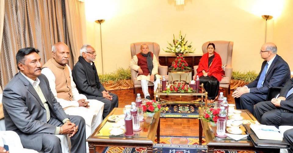 यस्तो छ भारतको चरित्र, मधेशी नेताहरुलाई सुस्मा स्वराजले दिइन यस्तो जवाफ