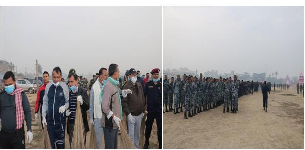 जनकपुरमा वृहत सरसफाई, मुख्यमन्त्रीसहित नेपाली सेना, प्रहरी, सशस्त्रहरुको विशेष सहभागिता