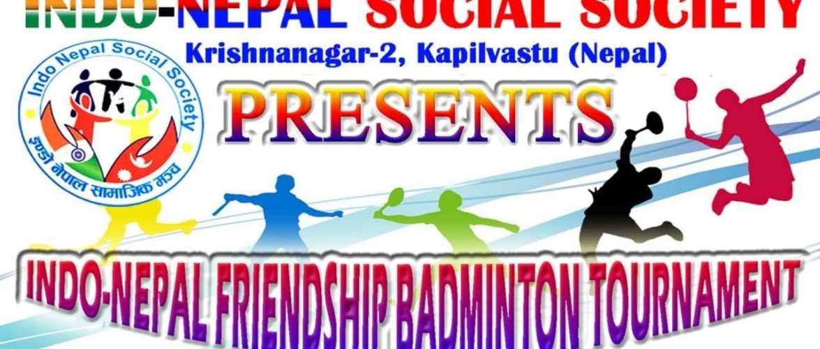 इण्डो नेपाल फ्रेन्डसिप बैडमिन्टन टूर्नामेंट कृष्णानगरमा हुदै, नेपाल-भारतका १४ टीम सहभागी हुने