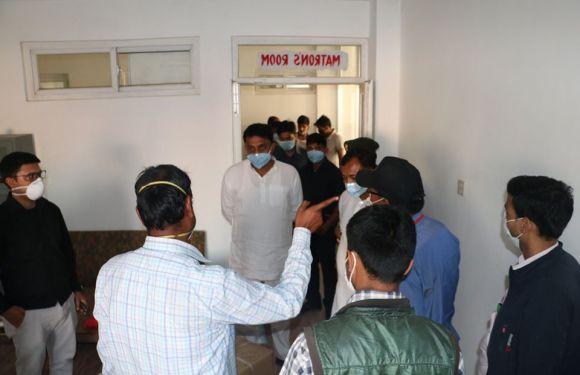 प्रदेश २ का मन्त्रीहरुद्वारा प्रादेशिक अस्पतालको निरीक्षण, आजैे पिसिआर संचालनमा आउने