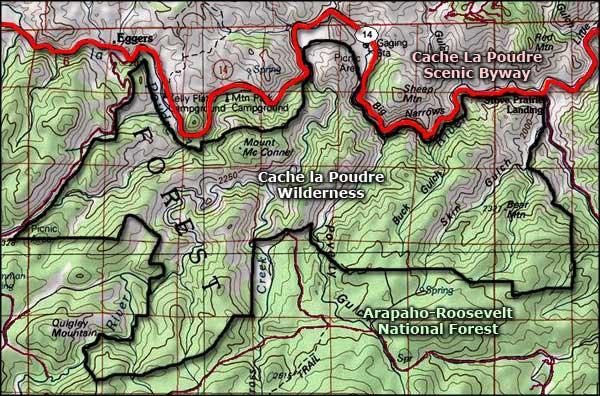 Map Northern Colorado Natural Areas