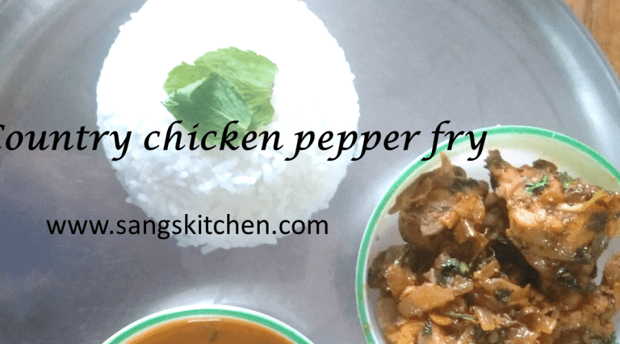 Country chicken pepper fry