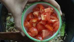 Chicken dum biryani -tomato
