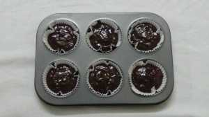 Chocolate cupcakes -bake for 20min
