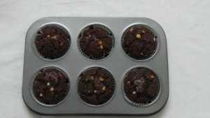 Chocolate cupcakes -ready