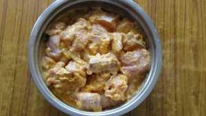 Mutton curry -marination